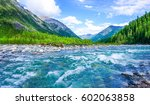 Mountain Wild River Landscape