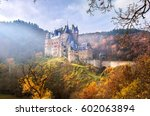 mountain castle in autumn...