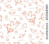 cute seamless pattern with... | Shutterstock .eps vector #602068484