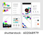 memphis geometric background... | Shutterstock .eps vector #602068979