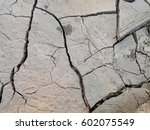 closeup surface of cracked dry... | Shutterstock . vector #602075549