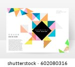 memphis geometric background... | Shutterstock .eps vector #602080316