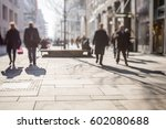 crowd of anonymous people... | Shutterstock . vector #602080688