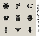 set of 9 editable kin icons....