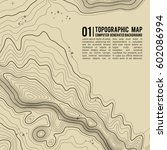 topographic map background with ... | Shutterstock .eps vector #602086994