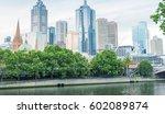 melbourne skyline  victoria  ... | Shutterstock . vector #602089874