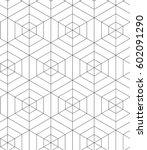 regular geometric. seamless... | Shutterstock .eps vector #602091290