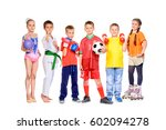 sports and activities for... | Shutterstock . vector #602094278