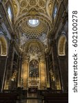 Small photo of Rome, Italy - December 31, 2016: Interior of the church of Santa Agnese in Agone (Saint Agnes in Agony) in Piazza Navona Rome in the historic center of Rome, Italy
