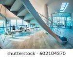 beautiful modern office... | Shutterstock . vector #602104370