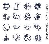 sphere icons set. set of 16... | Shutterstock .eps vector #602110340