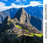 machu picchu is one of the new... | Shutterstock . vector #602114954