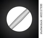 cricket ball icon. black... | Shutterstock .eps vector #602117330