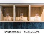 open wood shelf in the living... | Shutterstock . vector #602120696