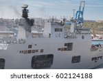 Small photo of Type 997 Artisan 3D Radar of The UK Royal Navy Flagship HMS Ocean, L12, resupplying at the Valletta Waterfront Pinto dock, The Grand Harbour, Valletta, Malta, 10th March 2017