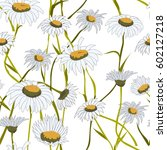 seamless pattern with white... | Shutterstock .eps vector #602127218