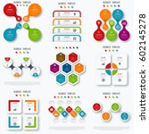 set with infographics. data and ... | Shutterstock .eps vector #602145278