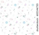 memphis seamless pattern 80's...   Shutterstock .eps vector #602146733