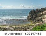 rocky beach with interesting... | Shutterstock . vector #602147468