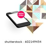 mobile phone icon with trendy... | Shutterstock .eps vector #602149454
