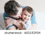 close up portrait of happy... | Shutterstock . vector #602152934