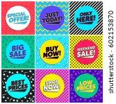 90's vintage flyer discount... | Shutterstock .eps vector #602153870