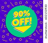 90's vintage flyer discount...   Shutterstock .eps vector #602153930