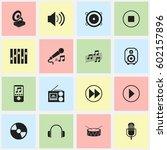 set of 16 editable multimedia...