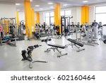 interior of a fitness hall | Shutterstock . vector #602160464