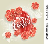 easter day greeting card ... | Shutterstock .eps vector #602164538