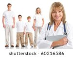 smiling family medical doctor... | Shutterstock . vector #60216586