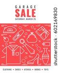 garage sale flyer template.... | Shutterstock .eps vector #602169830