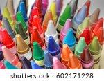 An Array Of Crayons In A Mug...