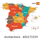 vector illustration of spain map | Shutterstock .eps vector #602171519