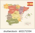 vector illustration of spain map | Shutterstock .eps vector #602171534