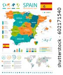 vector illustration of spain map | Shutterstock .eps vector #602171540