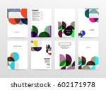 memphis geometric background... | Shutterstock .eps vector #602171978