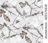 watercolor painting of... | Shutterstock . vector #602174618