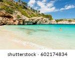 calo des moro  mallorca. spain. ... | Shutterstock . vector #602174834