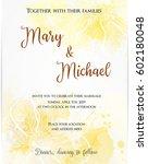 wedding invitation template... | Shutterstock .eps vector #602180048
