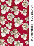 pattern with summer flowers... | Shutterstock .eps vector #602181404