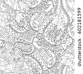 tracery seamless calming... | Shutterstock .eps vector #602181599