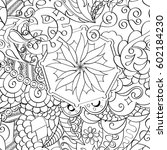 tracery seamless calming... | Shutterstock .eps vector #602184230