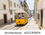 the gloria funicular in the... | Shutterstock . vector #602190854
