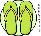 flip flops | Shutterstock .eps vector #602192390