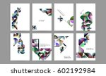 memphis geometric background... | Shutterstock .eps vector #602192984