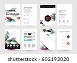 memphis geometric background... | Shutterstock .eps vector #602193020