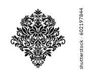 vintage baroque frame scroll...   Shutterstock .eps vector #602197844