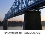 The Blue Bridge spans the Ohio River between Kentucky and Indiana.