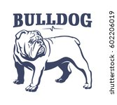 British Bulldog Mascot Emblem....